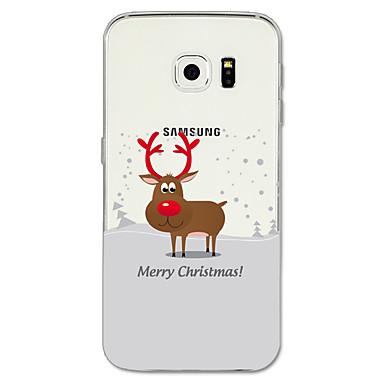 Недорогие Чехлы и кейсы для Galaxy S6 Edge-Кейс для Назначение SSamsung Galaxy S8 Plus / S8 / S7 edge С узором Кейс на заднюю панель Рождество Мягкий ТПУ
