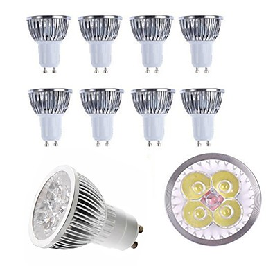 10 шт. 4 W 400 lm E14 / GU10 / GU5.3 Точечное LED освещение 4 Светодиодные бусины Высокомощный LED Декоративная Тёплый белый / Холодный белый 85-265 V / RoHs