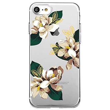 voordelige iPhone 5 hoesjes-hoesje Voor iPhone 7 / iPhone 7 Plus / iPhone 6s Plus iPhone 8 Plus / iPhone 8 / iPhone SE / 5s Patroon Achterkant Bloem Zacht TPU / iPhone X