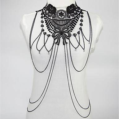 hesapli Vücut Takıları-Kadın's Vücut Mücevheri Vücut Zinciri / Belly Chain Siyah Geometric Shape İfade / Bayan / Rock Yıldızı Çiçek tomurcuğu / alaşım Kostüm takısı Uyumluluk Parti / Sahne 11.0*10.0*2.3 cm Yaz