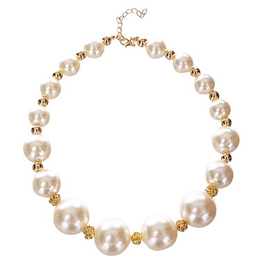 Kadın's Mücevher Gelin İfade Takıları Tellerinin Kolye İnci alaşım Tellerinin Kolye , Düğün Parti Günlük