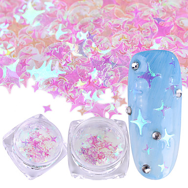 1pc Sequins / Nail Glitter Elegant & Luxurious / Sparkle & Shine Nail Art Design