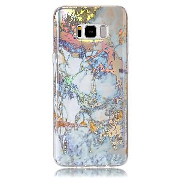 Недорогие Чехлы и кейсы для Galaxy S6-Кейс для Назначение SSamsung Galaxy S8 Plus / S8 / S7 edge Покрытие / IMD Кейс на заднюю панель Мрамор Мягкий ТПУ