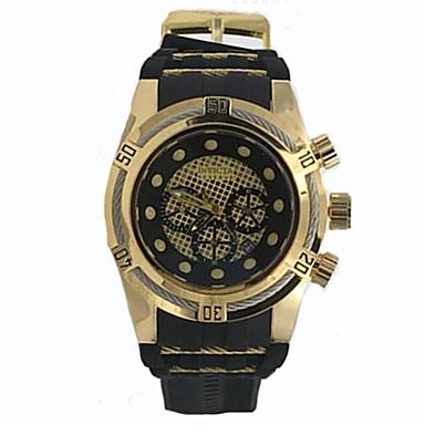 levne Pánské-Pánské Krabičky na hodinky Hodinky na běžné nošení Sportovní hodinky Křemenný Silikon Pryž Černá Voděodolné Kalendář Chronograf Analogové Klasické Na běžné nošení - stříbrná / černá Černá / Modr