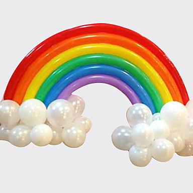 ieftine Decorațiuni de Casă-balonul curcubeu set ziua de nastere nunta deco (20 baloane lungi 16 baloane rotunde)