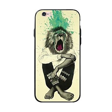 voordelige iPhone 5 hoesjes-hoesje Voor Apple iPhone X / iPhone 8 Plus / iPhone 8 Patroon Achterkant Luipaardprint / dier Zacht TPU