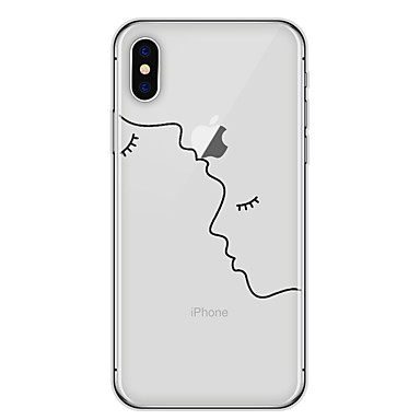 iphone x coque transparente avec motif