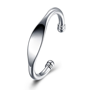 voordelige Heren Armband-Heren Bangles meetkundig Modieus Verzilverd Armband sieraden Zilver Voor Bruiloft Lahja Dagelijks Maskerade Verlovingsfeest Schoolfeest