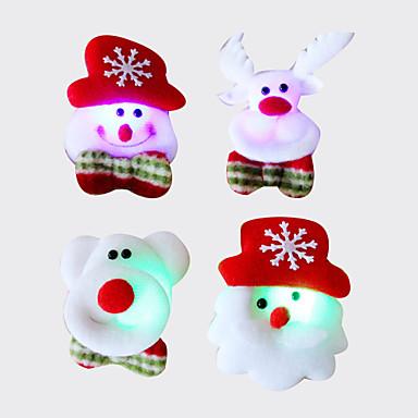 12szt Christmas Santa broszka broszka tkaniny błysk świetlny dekoracji Boże Narodzenie prezent na Boże Narodzenie (styl losowo)