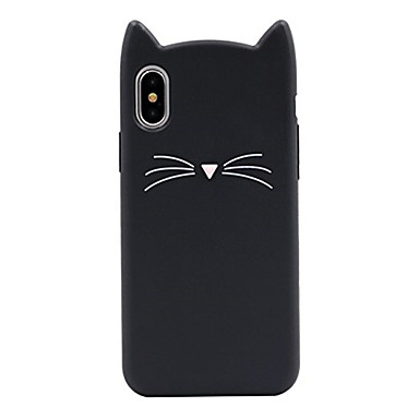 voordelige iPhone 7 hoesjes-hoesje Voor Apple iPhone X / iPhone 8 Plus / iPhone 8 Patroon Achterkant Kat / Cartoon Zacht Siliconen