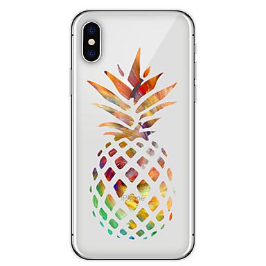voordelige iPhone 5 hoesjes-hoesje Voor Apple iPhone X / iPhone 8 Plus / iPhone 8 Patroon Achterkant Voedsel / Fruit Zacht TPU