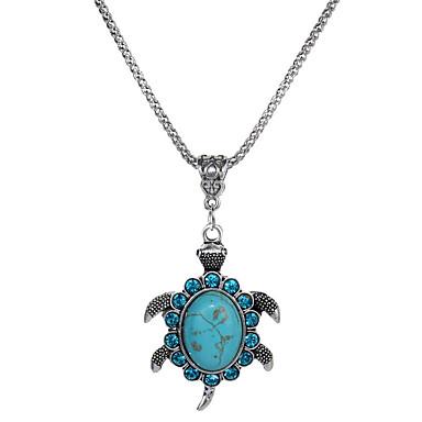 billige Mode Halskæde-Dame Krystal Halskædevedhæng Turkis Turtle Dyr Damer Simple Mode Turkis Halskæder Smykker 1 Til Gave Aftenselskab