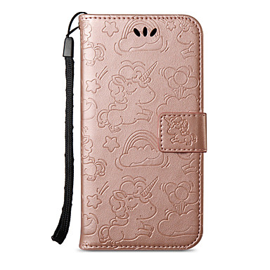 Case For Apple iPhone X iPhone 8 Plus Card Holder Wallet with Stand Flip Pattern Full Body Cases Unicorn Hard PU Leather for iPhone X