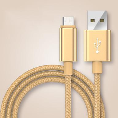 USB 2.0 / Typ-C Geflochten Kabel Samsung / Huawei / LG für 100 cm Für Nylon