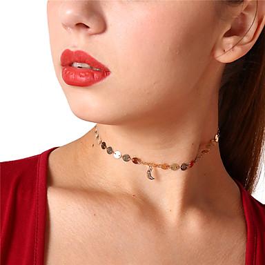 billige Mode Halskæde-Dame Kort halskæde Vedhæng Simple Sød Guld Sølv Halskæder Smykker Til Daglig Stævnemøde