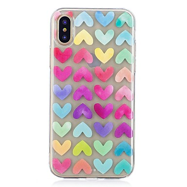 retro cuori Per X TPU Plus iPhone 8 iPhone iPhone 7 iPhone per iPhone 8 Morbido Apple Custodia Fantasia 06437046 iPhone Con Plus X 8 disegno Per fwqzzxPda