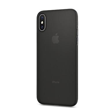 Para iPhone X iPhone 8 iPhone 8 Plus Capinha iPhone 5 Case Tampa Antichoque Capa Traseira Capinha Côr Sólida Rígida Couro Ecológico para