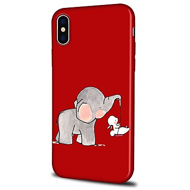 8 Custodia iPhone iPhone Elefante Plus X Cartoni X Per 06460756 per Fantasia TPU animati Plus Morbido 8 Per iPhone disegno retro iPhone Apple rxnqfrX