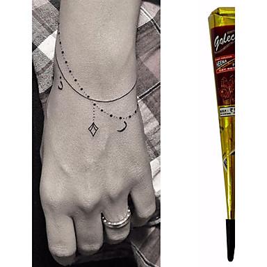 Black Herbal Henna Cones Temporary Tattoo Kit Body Art Mehandi Ink