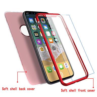 voordelige iPhone 5 hoesjes-hoesje Voor Apple iPhone X / iPhone 8 Plus / iPhone 8 Ultradun Volledig hoesje Effen Zacht TPU
