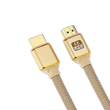 billige Kabler og adaptere-Cwxuan HDMI 2.0 Kabel, HDMI 2.0 to HDMI 2.0 Kabel Han - Han 4K*2K Forgyldt kobber 1.8M (6ft)