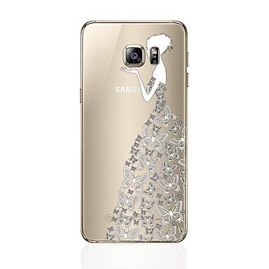 Недорогие Чехлы и кейсы для Galaxy S6 Edge-Кейс для Назначение SSamsung Galaxy S8 Plus / S8 / S7 edge С узором Кейс на заднюю панель Соблазнительная девушка Мягкий ТПУ