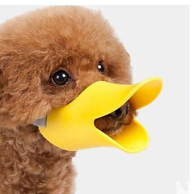Hond Muilkorven Waterdicht draagbaar Veiligheid Effen Siliconen Geel Koffie Roze