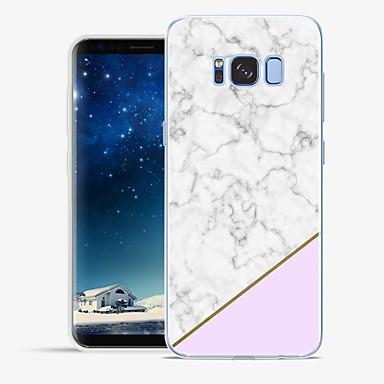 Недорогие Чехлы и кейсы для Galaxy S6-Кейс для Назначение SSamsung Galaxy S8 Plus / S8 / S7 edge С узором Кейс на заднюю панель Мрамор Мягкий ТПУ