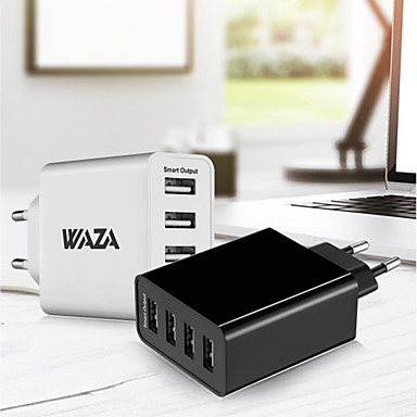 WAZA Portable Charger USB Charger EU Plug Fast Charge / Multi Ports 4 USB Ports 5 A for iPhone 8 Plus / iPhone 8 / S8 Plus