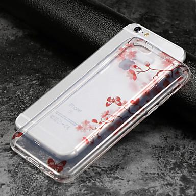 voordelige iPhone 5c hoesjes-hoesje Voor Apple iPhone X / iPhone 8 Plus / iPhone 8 IMD / Ultradun / Transparant Achterkant Bloem Zacht TPU