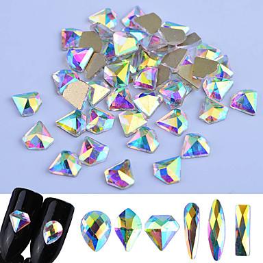 Glitter Powder Nail Jewelry Rhinestones Luxury / Fashionable Design / Sparkling nail art Manicure Pedicure Party / Party / Evening / Daily Elegant & Luxurious / Sparkle & Shine