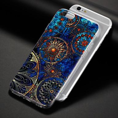 voordelige iPhone 6 hoesjes-hoesje Voor Apple iPhone 8 Plus / iPhone 8 / iPhone 7 Plus Patroon Achterkant Mandala / Bloem Zacht TPU