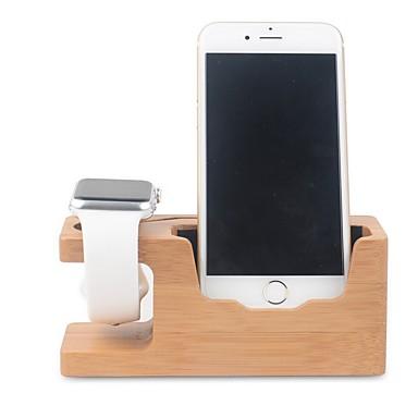 voordelige Apple Watch-bevestigingen & -houders-Apple Watch Standaard met adapter Other Bamboe Bureau
