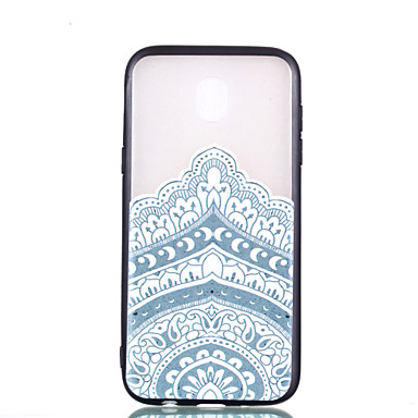 [$2.99] Case For Samsung Galaxy J7 (2017) J5 (2017) Transparent Pattern Embossed Back Cover Mandala Hard PC for J7 (2017) J5 (2017) J3 (2017)