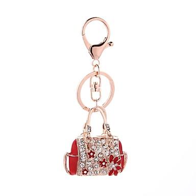 Недорогие Брелоки-Брелок На каждый день Мода Модные кольца Бижутерия Красный / Розовый Назначение Подарок Повседневные