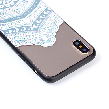 iPhone Resistente Acrilico iPhone Apple Transparente Mandala X iPhone X Custodia Fantasia disegno 06485107 per 8 Per Fiori 8 Per Plus retro iPhone HAqw6Z