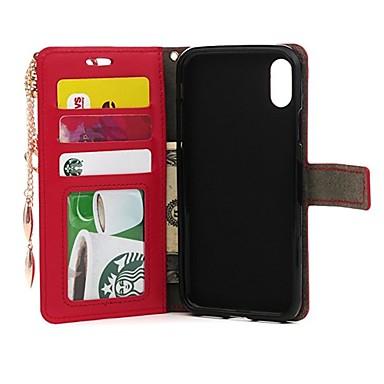 credito Fiore Apple Porta iPhone carte Plus 06509058 diamantini Con iPhone Resistente Integrale pelle 8 di Custodia supporto X Con Per decorativo 1Bv4w4