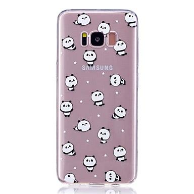 voordelige Galaxy S-serie hoesjes / covers-hoesje Voor Samsung S8 Plus / S8 / S7 edge Ultradun / Patroon Achterkant Panda Zacht TPU