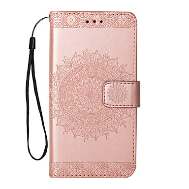 voordelige Galaxy Note 5 Hoesjes / covers-hoesje Voor Samsung Galaxy Note 8 / Note 5 Flip / Patroon Volledig hoesje Bloem Hard PU-nahka
