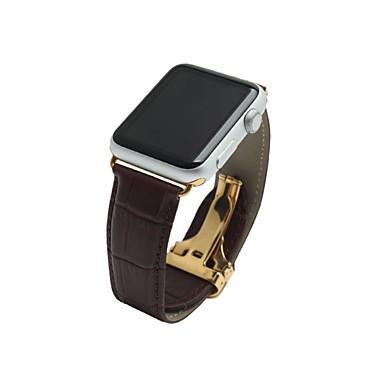 Недорогие Ремешки для Apple Watch-Ремешок для часов для Apple Watch Series 2 / Apple Watch Series 1 Apple Современная застежка Натуральная кожа Повязка на запястье