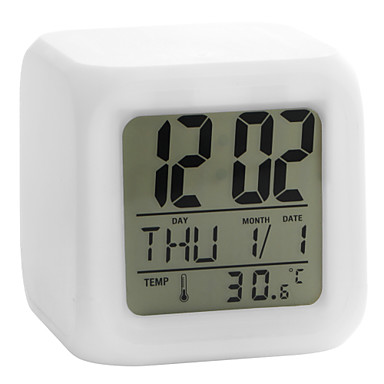 Back To Search Resultshome & Garden Nice 2016 New Arrival Digital Alarm Thermometer Night Glowing Cube 7 Colors Clock Led Change Fashion Clearance Price