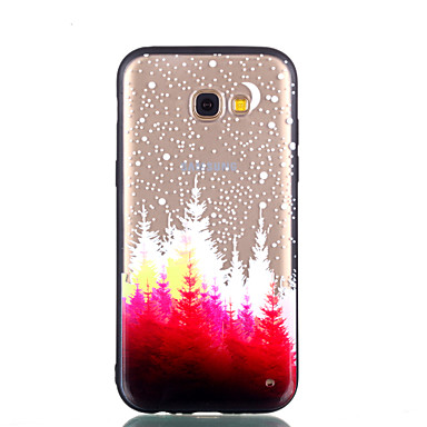 voordelige Galaxy A-serie hoesjes / covers-hoesje Voor Samsung Galaxy A5(2018) / Galaxy A7(2018) / A3 (2017) Transparant / Reliëfopdruk / Patroon Achterkant Boom Hard PC