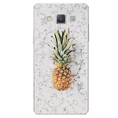 voordelige Galaxy A-serie hoesjes / covers-hoesje Voor Samsung Galaxy A3 (2017) / A5 (2017) / A7 (2017) Patroon Achterkant Fruit / Marmer Zacht TPU
