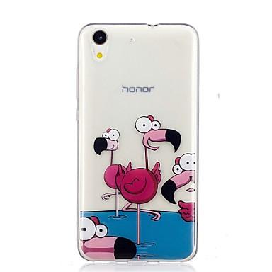 voordelige Huawei Y-serie hoesjes / covers-hoesje Voor Huawei Huawei Y6 II / Honor Holly 3 / Huawei Y5 II / Honor 5 / Nova Patroon Achterkant Flamingo Zacht TPU