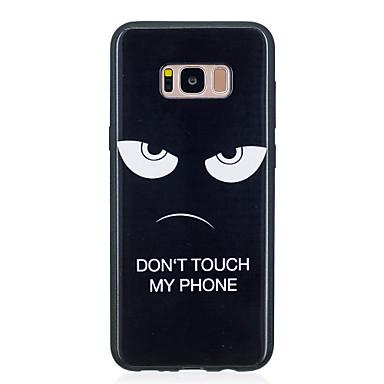 Недорогие Чехлы и кейсы для Galaxy S6-Кейс для Назначение SSamsung Galaxy S8 Plus / S8 / S7 edge С узором Кейс на заднюю панель Слова / выражения Мягкий ТПУ