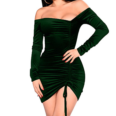 735d4691 cheap Bodycon Dresses-Women's Velvet Party Going out Street chic Mini