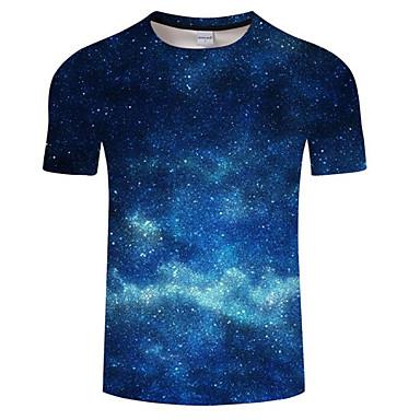547010f45377 Χαμηλού Κόστους Ανδρικά μπλουζάκια και φανελάκια-Ανδρικά Μεγάλα Μεγέθη T- shirt Συνδυασμός Χρωμάτων Στρογγυλή