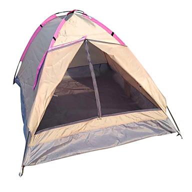 LANGYA 2 Pessoas Barracas de Acampar Leves Único Poste Dome Barraca de acampamento Ao ar livre Secagem Rápida, Respirabilidade para Campismo Poliéster