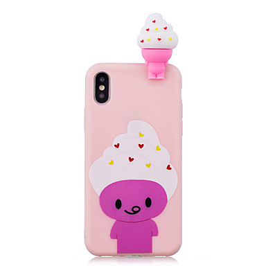voordelige iPhone 7 hoesjes-hoesje Voor Apple iPhone XS / iPhone XR / iPhone XS Max Schokbestendig / Patroon / DHZ Achterkant Voedsel / Cartoon / 3D Cartoon Zacht TPU
