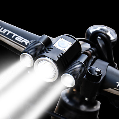 cheap Bike Lights-Bike Light Front Bike Light Headlight LED Cycling Waterproof Adjustable Wide Angle Rechargeable Battery 1900 lm Lithium Battery Rechargeable Power White Cycling / Bike / Multiple Modes